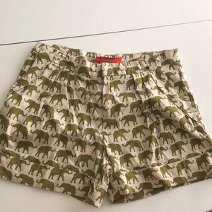 Anthropologie Cartonnier elephant shorts. Size 6.